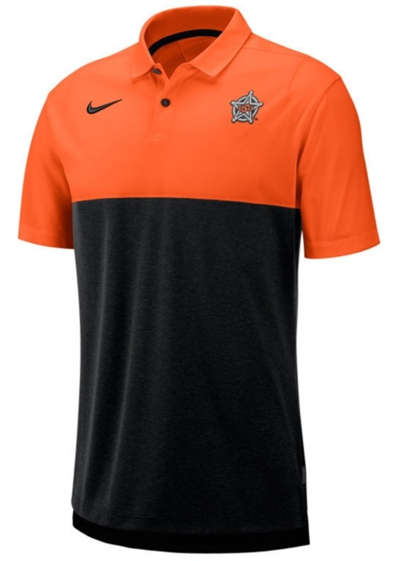 Nike Men's Oklahoma State Cowboys Dri-Fit Colorblock Breathe Polo