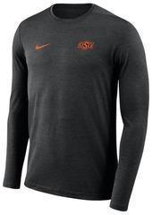 Nike Men's Oklahoma State Cowboys Long Sleeve Dri-Fit Coaches T-Shirt