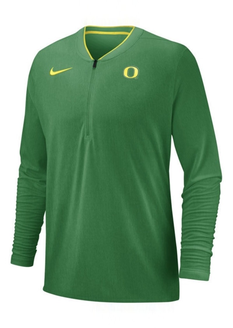 Nike Men's Oregon Ducks Coaches Quarter-Zip Pullover 2018