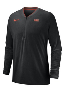 Nike Men's Oregon State Beavers Coaches Quarter-Zip Pullover 2018