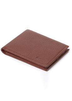 Nike Men's Passcase Pebble Grain Leather Wallet