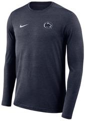 Nike Men's Penn State Nittany Lions Long Sleeve Dri-Fit Coaches T-Shirt