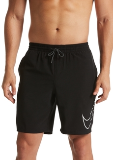 "Nike Men's Perforated Swoosh Stretch 9"" Swim Trunks"