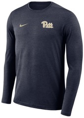Nike Men's Pittsburgh Panthers Long Sleeve Dri-Fit Coaches T-Shirt