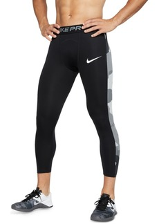 Nike Men's Pro Camo-Stripe Cropped Training Leggings