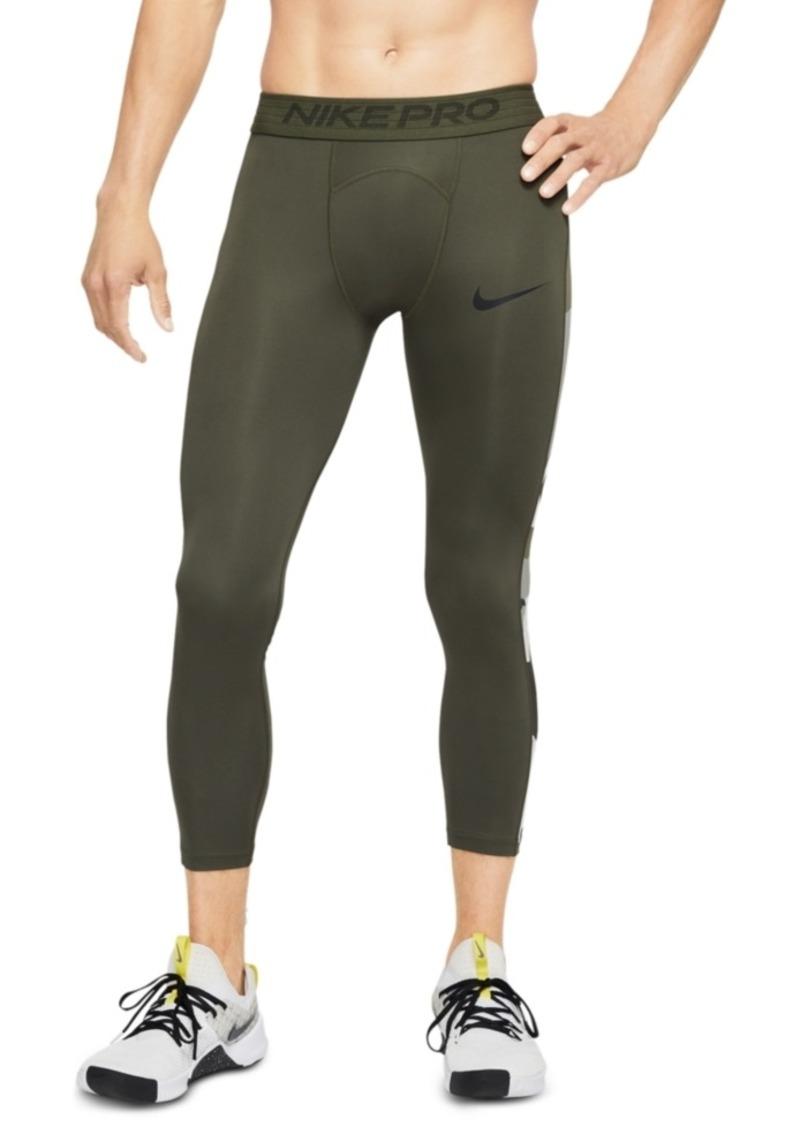 Nike Men's Pro Camo-Stripe Cropped Training Leggings