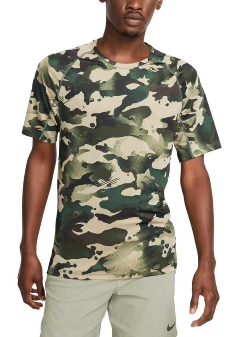 Nike Men's Pro Dri-fit Camouflage Graphic T-Shirt