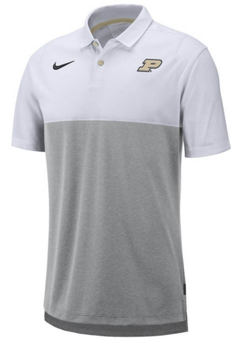 Nike Men's Purdue Boilermakers Dri-Fit Colorblock Breathe Polo