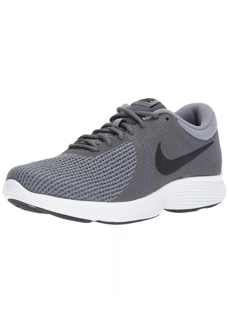 Nike Men's Revolution 4 Running Shoe Dark Black-Cool Grey/White  Regular US