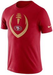 Nike Men's San Francisco 49ers Dri-fit Cotton Modern Icon T-Shirt