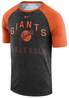 Nike Men's San Francisco Giants Dry Slub Short Sleeve Raglan T-Shirt