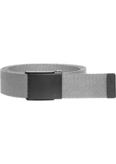 Nike Men's Single Web Belt W/Matte Black Finish charcoal