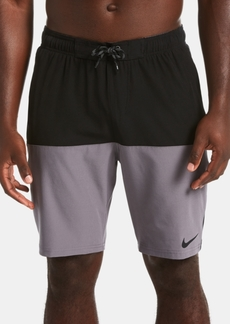 """Nike Men's Split Colorblocked 9"""" Swim Trunks"""