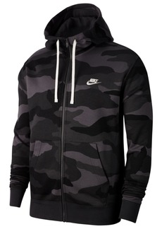 Nike Men's Sportswear Club Fleece Camo Zip Hoodie