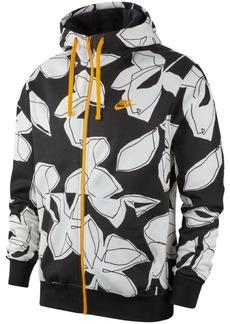 Nike Men's Sportswear Floral-Print Hoodie