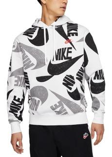 Nike Men's Sportswear Logo-Print Fleece Hoodie