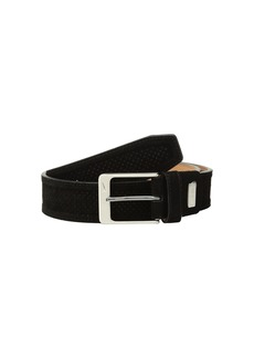 Nike Men's Suede Wide Perf Trapunto G-Flex Belt black
