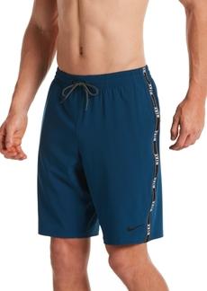 Nike Men's Swim Logo Tape Racer Volley Shorts