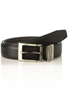 Nike Men's Swoosh Laser Loop Reversible Belt Black/Brown