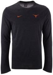 Nike Men's Texas Longhorns Long Sleeve Dri-Fit Coaches T-Shirt
