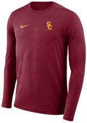 Nike Men's Usc Trojans Long Sleeve Dri-Fit Coaches T-Shirt
