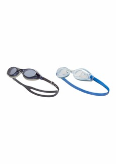 NIKE Men's Valiant/Hydra Fem 2-Pack Swim Goggles Smoke/Clear