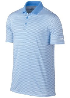 Nike Men's Victory Mini Stripe Dri-fit Stretch Polo Shirt