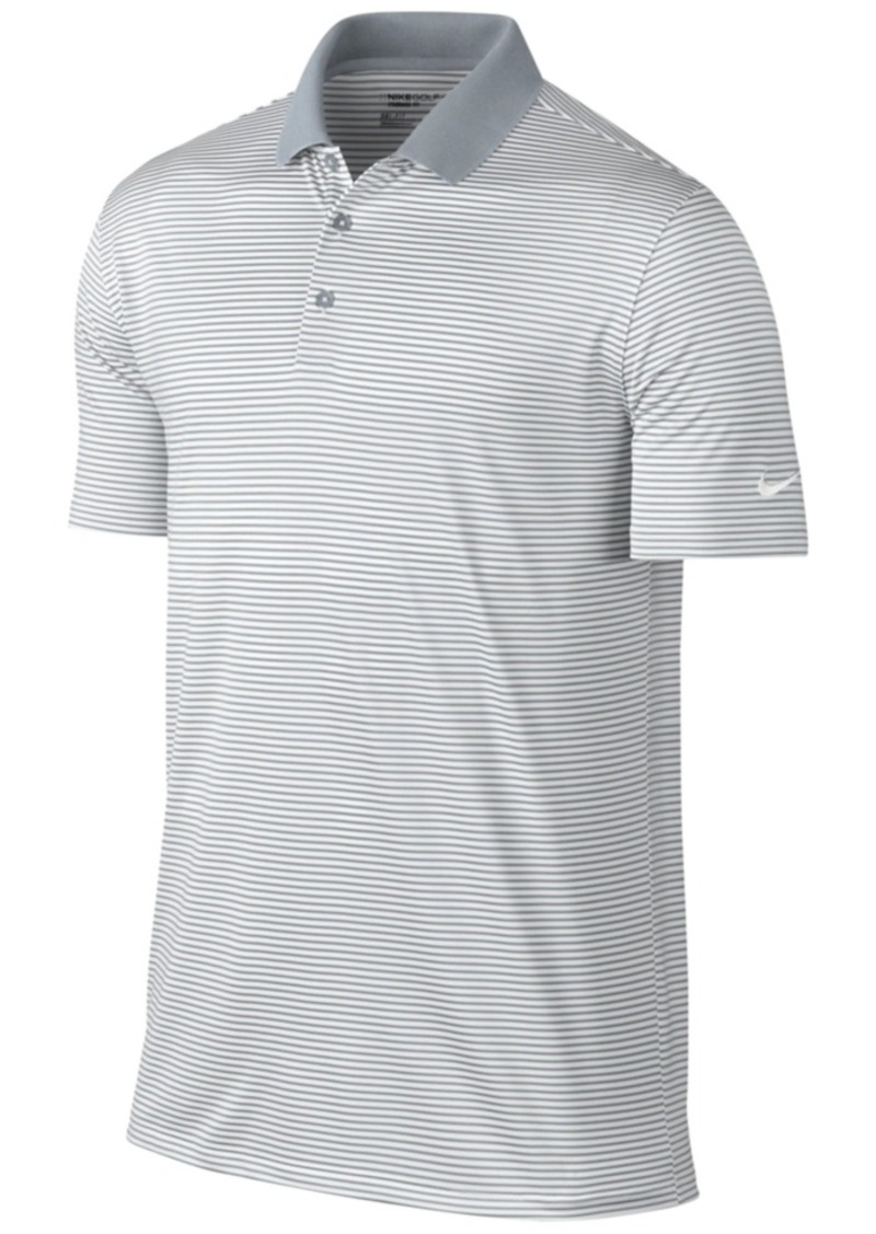 Nike nike men 39 s victory mini stripe dri fit stretch polo for Stretch polo shirt mens