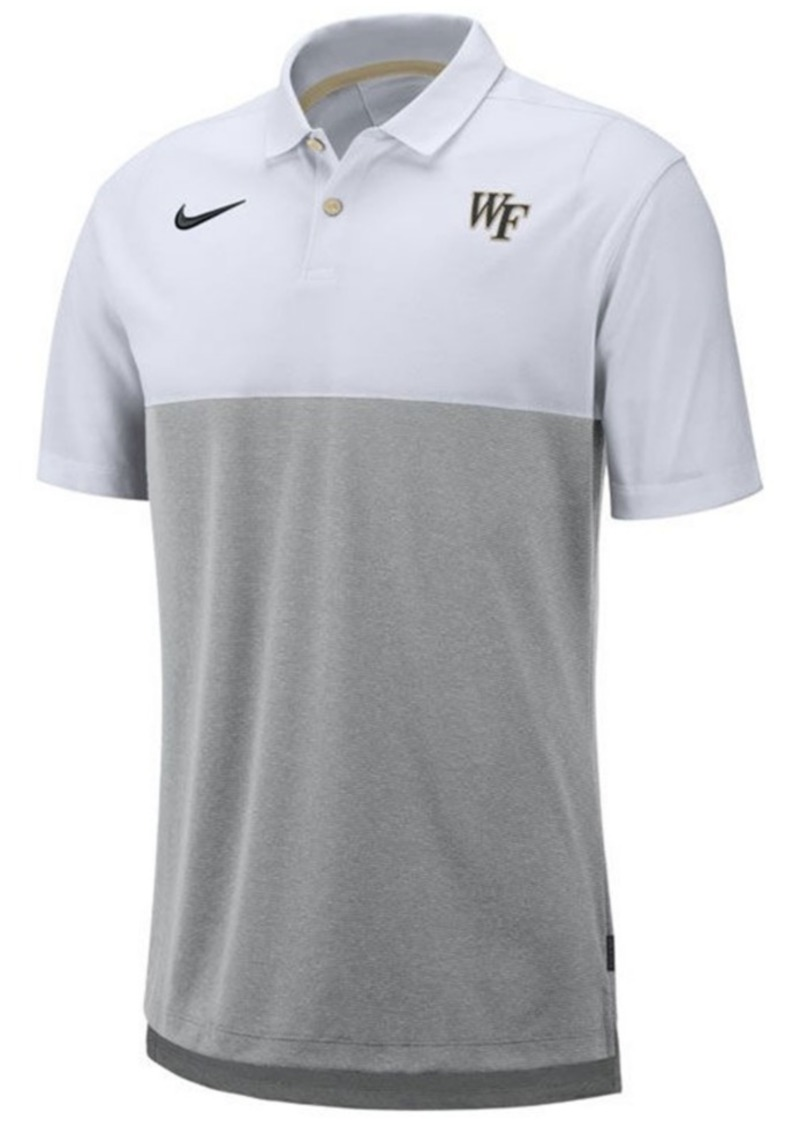 Nike Men's Wake Forest Demon Deacons Dri-Fit Colorblock Breathe Polo