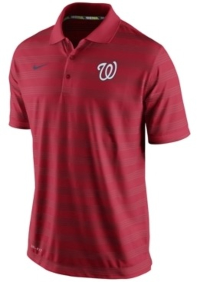 Nike nike men 39 s washington nationals dri fit polo casual for Dri fit shirts on sale