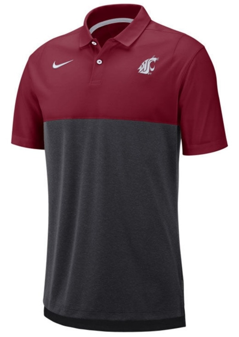 Nike Men's Washington State Cougars Dri-Fit Colorblock Breathe Polo