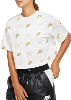 Nike Metallic Logo Cropped Tee
