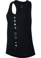 Nike Women's Miler Dri-fit Just Do It Running Tank Top