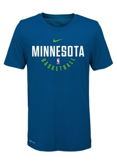 Nike Minnesota Timberwolves Elite Practice T-Shirt, Big Boys (8-20)