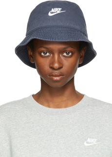 Nike Navy Sportswear Washed Bucket Hat