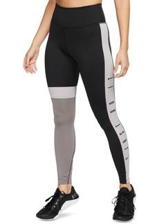 Nike Women's One Dri-fit Just Do It Colorblocked Leggings