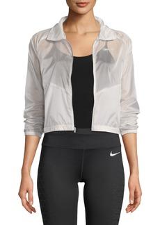 Nike Packable Zip-Front Sheer Ripstop Running Jacket