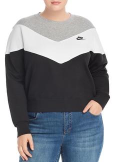 Nike Plus Chevron Color-Block Sweatshirt
