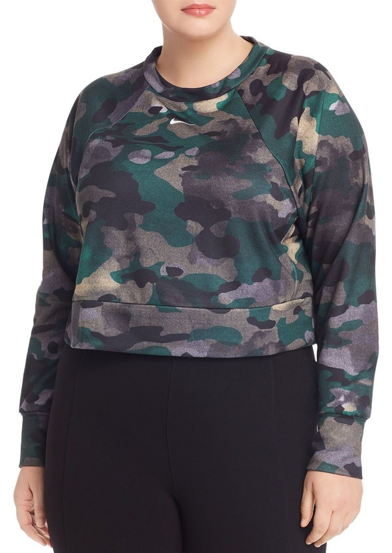 Nike Plus Dri-FIT Camouflage Cropped Training Top