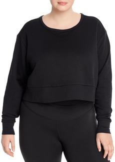 Nike Plus Dri-FIT Cropped Crossover-Back Sweatshirt