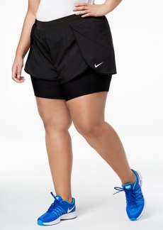 Nike Plus Size Bliss Flex 2-in-1 Shorts