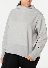 Nike Plus Size Fleece Funnel-Neck Training Top