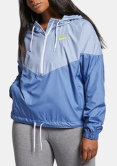 Nike Plus Size Heritage Half-Zip Windbreaker