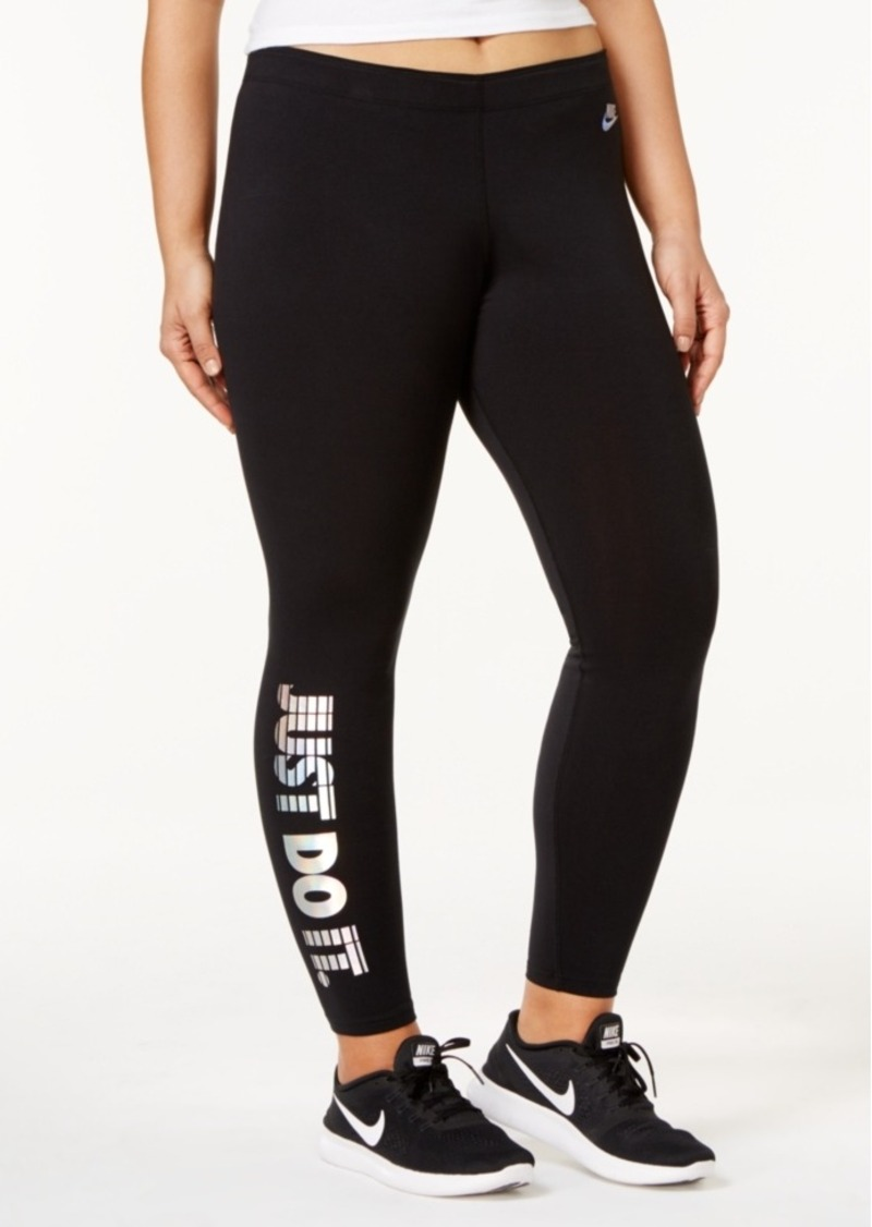 separation shoes 4a7a6 de3f1 Nike Plus Size Leg-a-See Just Do It Hologram Leggings