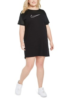 Nike Plus Size Mesh-Contrast Sportswear Dress