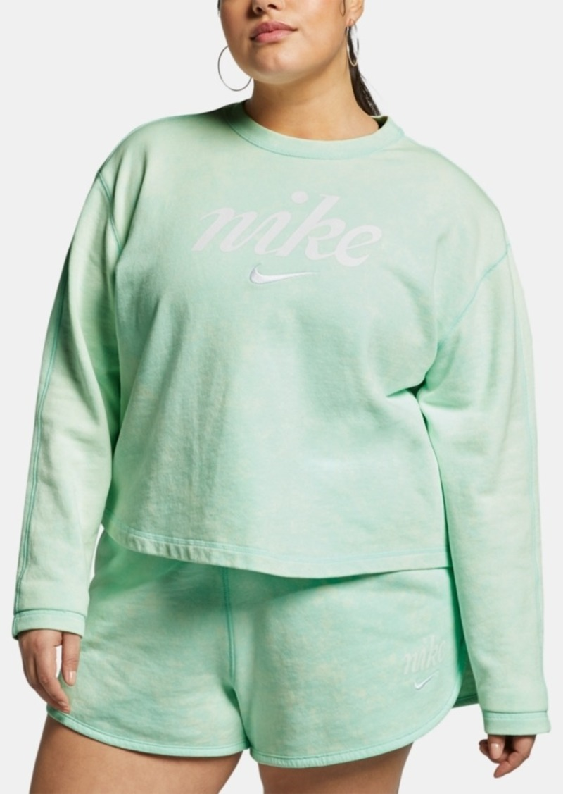 Nike Plus Size Sportswear Cotton Cropped Sweatshirt