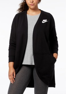 Nike Plus Size Sportswear Rally Fleece Open Cardigan