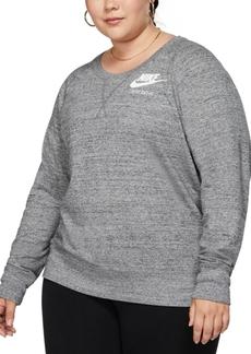 Nike Plus Size Sportswear Vintage-Inspired Crewneck Top