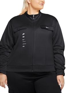 Nike Plus Size Swoosh Polyknit Track Jacket