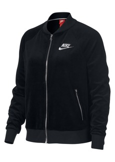 Nike Plus Size Velour Track Jacket
